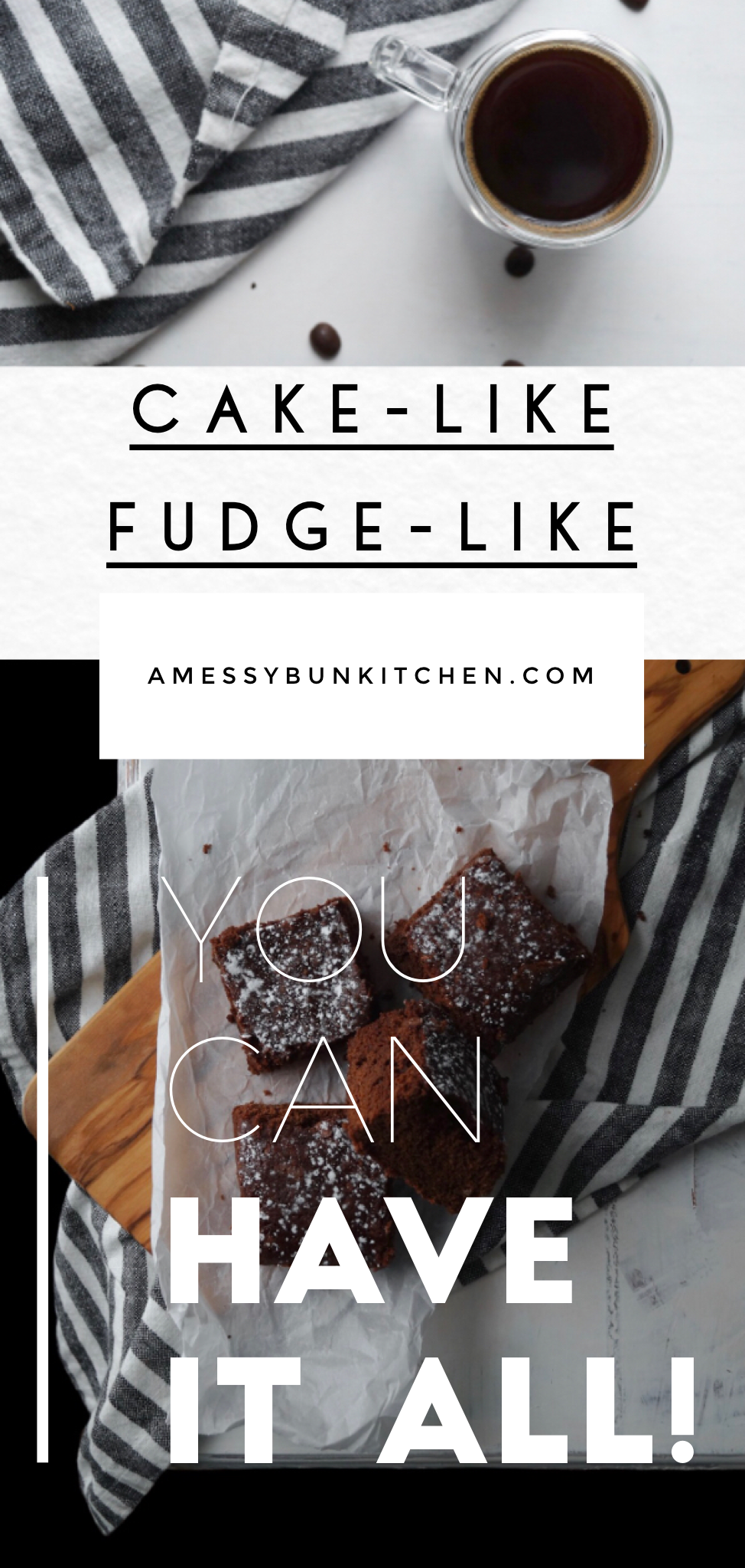 the best cakey, fudgey, brownies recipe from a messy bun kitchen, cake like, fudge like, brownies recipe from scratch with cocoa, homemade, chewy,