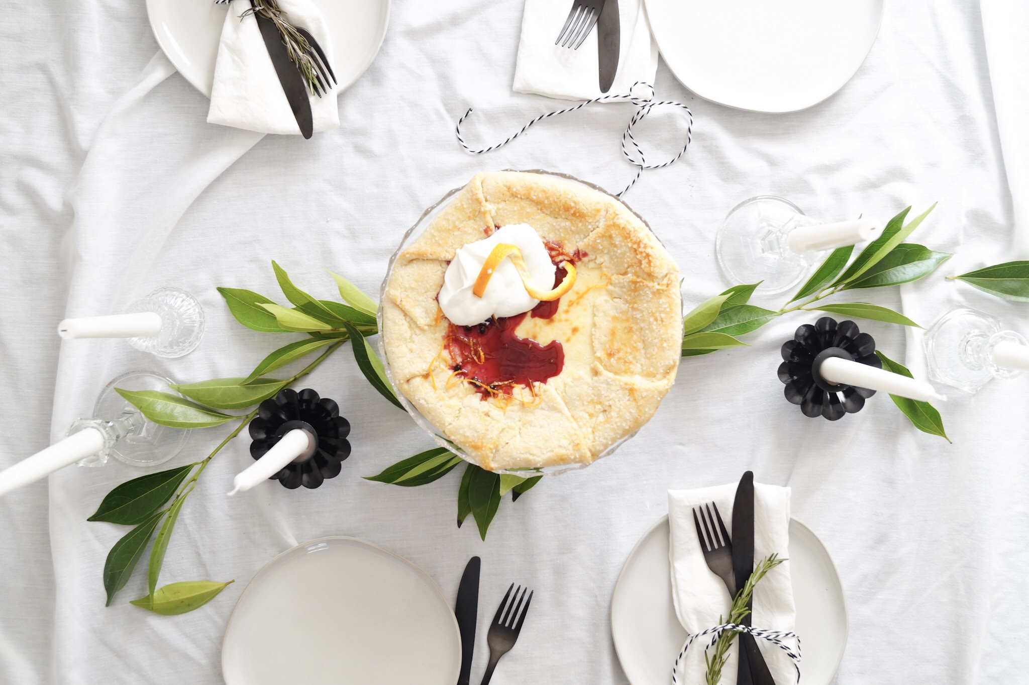 cream cheese galette with blueberry sauce: A Messy Bun Kitchen