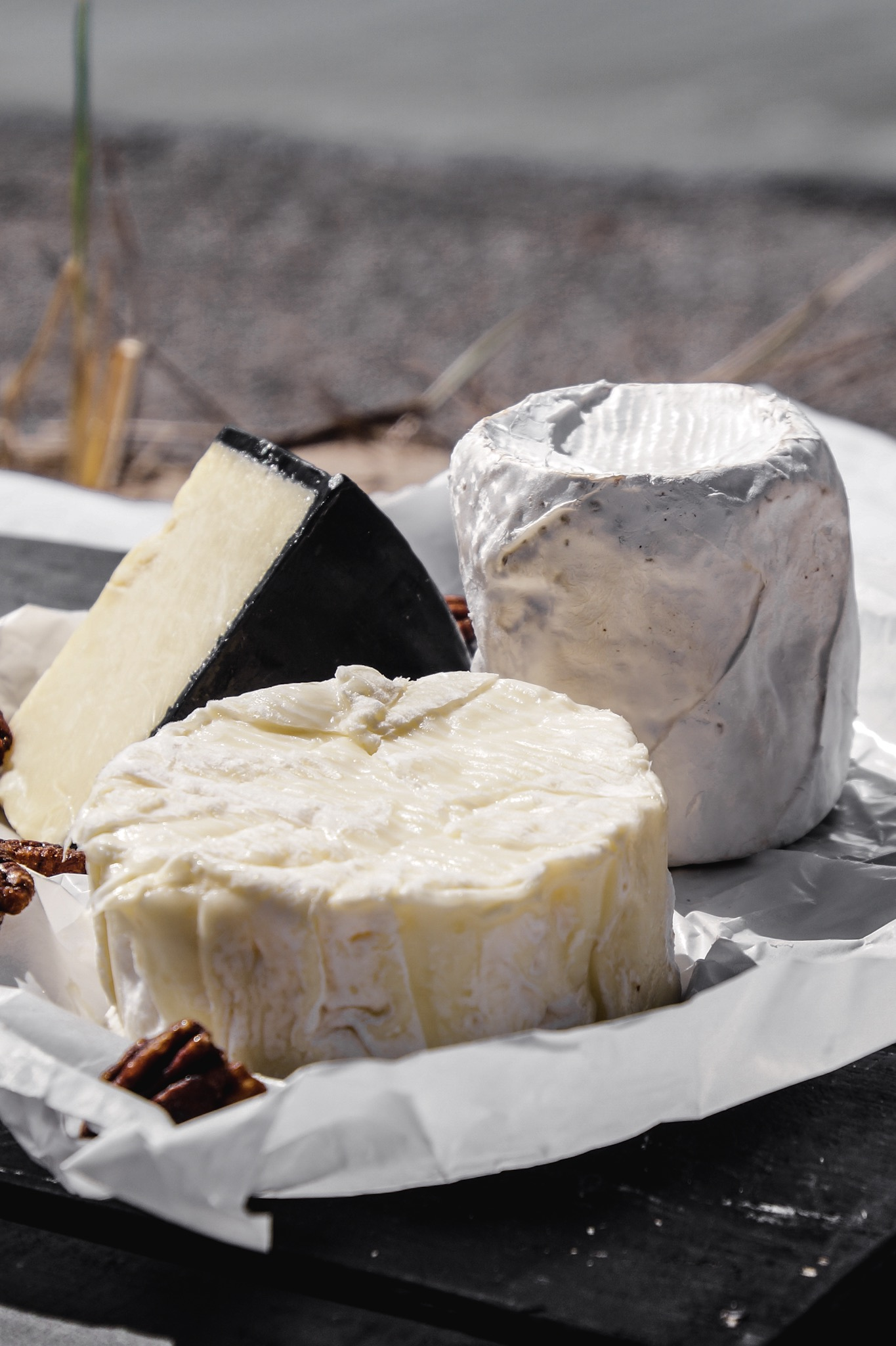 A trio of cheeses help build the charcuterie for this amazing summer picnic