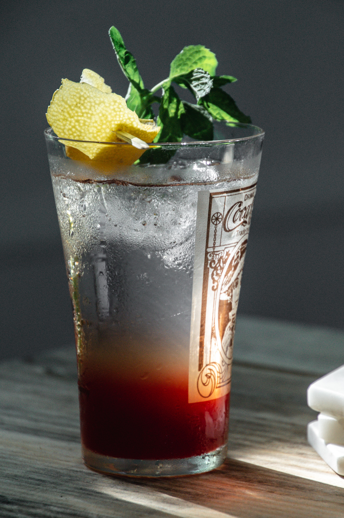 refreshing raspberry lemonade sparkling iced tea from a refrigerator iced tea concentrate... making moments at home.