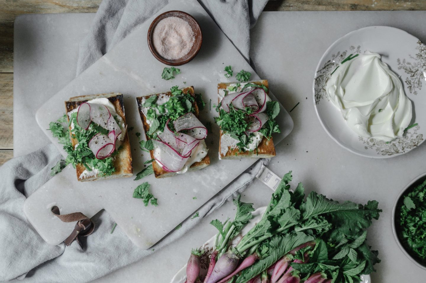 radish crostini toasts for easy summer entertaining