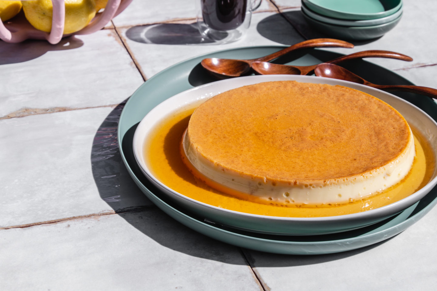 creme caramel is a simple firm set custard with a sticky caramel topping