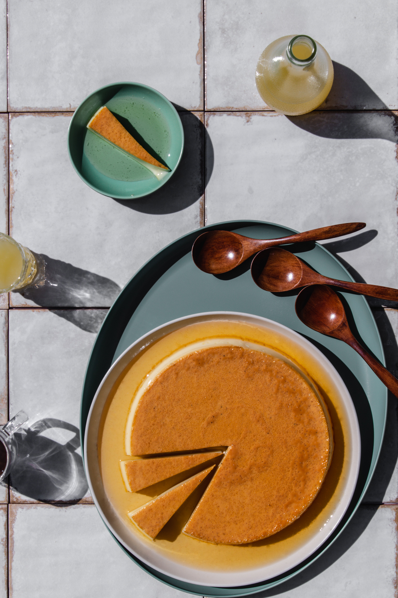 The espresso in coffee creme caramel brings complexity the lemon brings surprise. And brightness. It's like squeezing a lemon over whisky.