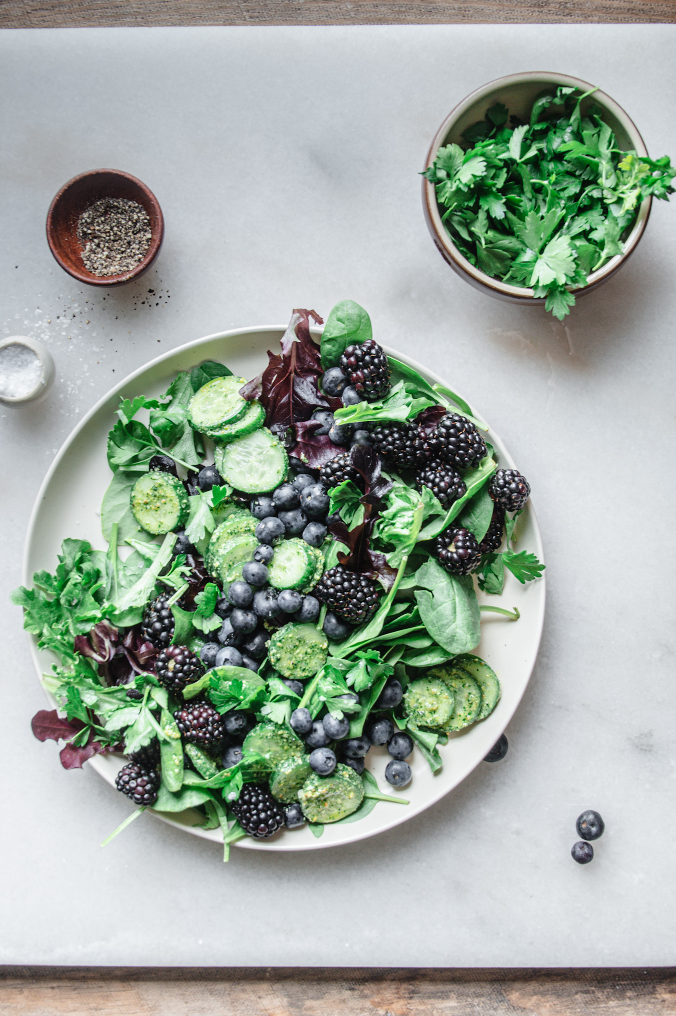 This green goddess salad is fresh, crunch, healthy, and bursting with the flavors of summer